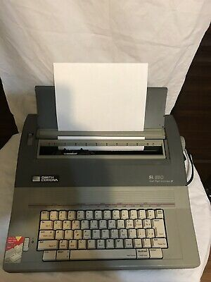 Smith Corona Electric Typewriter Sl-580 Quiet And Works