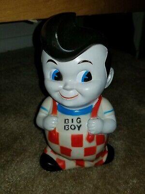 VIntage Bob's Big Boy Plastic Piggy Bank Collectible Food Memorabilia