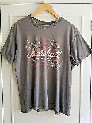 MARSHALL AMPLIFICATION TShirt Grey Guitar Amp Punk Rock N Roll Retro 1990s LARGE