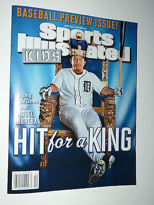 APR 2013 SI for Kids Triple Crown King Detroit Tigers Miguel Cabrera w/ - King Crown For Kids