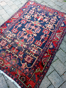 Vintage pure wool tribal Persian rug Drummoyne Canada Bay Area Preview