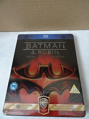 Batman and Robin Warner 90th Anniversary Edn Blu-ray SteelBook *SEE DESCRIPTION*