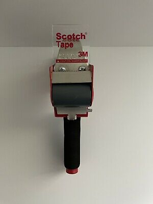 Red Scotch Tape 3m Dispenser Hand Held Packing Tape Gun For 2 Tape Roll