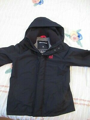 ABERCROMBIE & FITCH BOY HOODED JACKET COAT ALL SEASON WEATHER WARRIOR XL NWOT 16