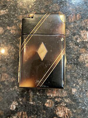 Vintage Antique Marathon Cigarette lighter And Case Combo. Tortise Made in USA