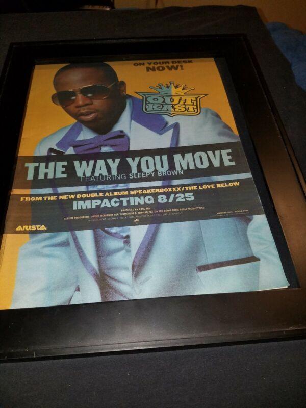 Outkast The Way You Move Rare Original Radio Promo Poster Ad Framed!