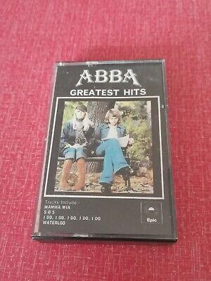 Abba - Greatest Hits EPC4069218 Cassette Tape   White   Yellow Paper Label