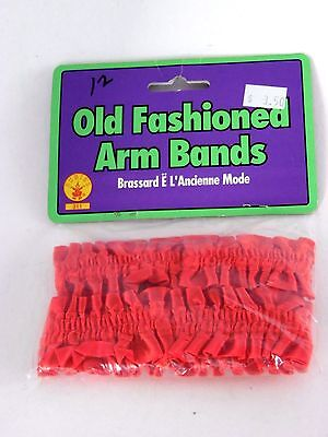 Red Old Fashioned Roaring 20's Arm Bands Theatrical Stage Rubies Costume - Old Fashioned Halloween Costumes