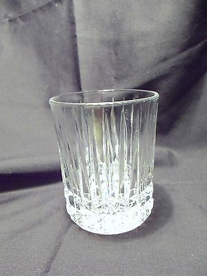 *NEW* Set of 4 vintage FOSTORIA clear CRYSTAL glass HERITAGE dof rock GLASSES