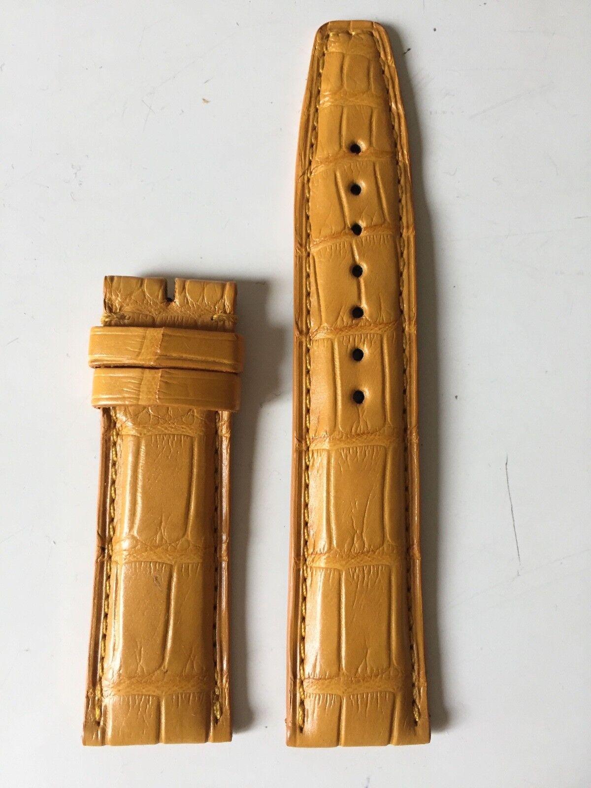 IWC Portugieser Uhrenarmband Alligatorleder 20/18 mm Gelb Kurz