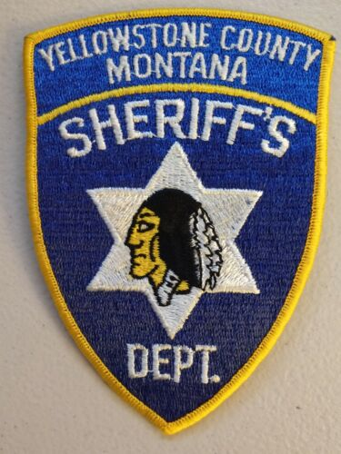 Old style Yellowstone County, Montana sheriff patch - postpaid