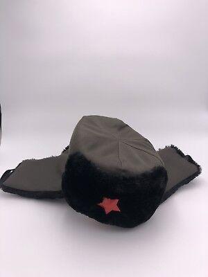 Chinesische Mütze (Chinesische Armee Mütze Winter Warm Schwarz/Grau.)