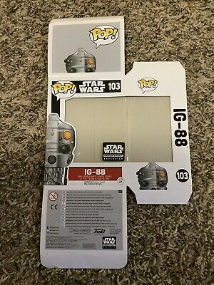 Funko Pop Empty Replacement Box IG-88 Star Wars Smugglers Bounty Exclusive #103
