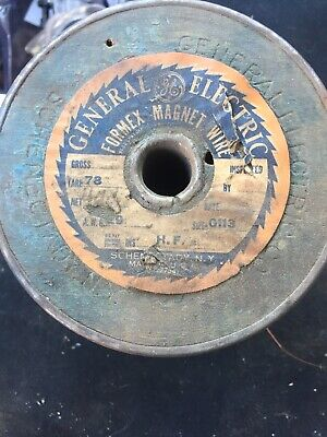 Vintage Ge Transformerformex Magnet Wire Copper Awg 29 Size 0113 Ins. F