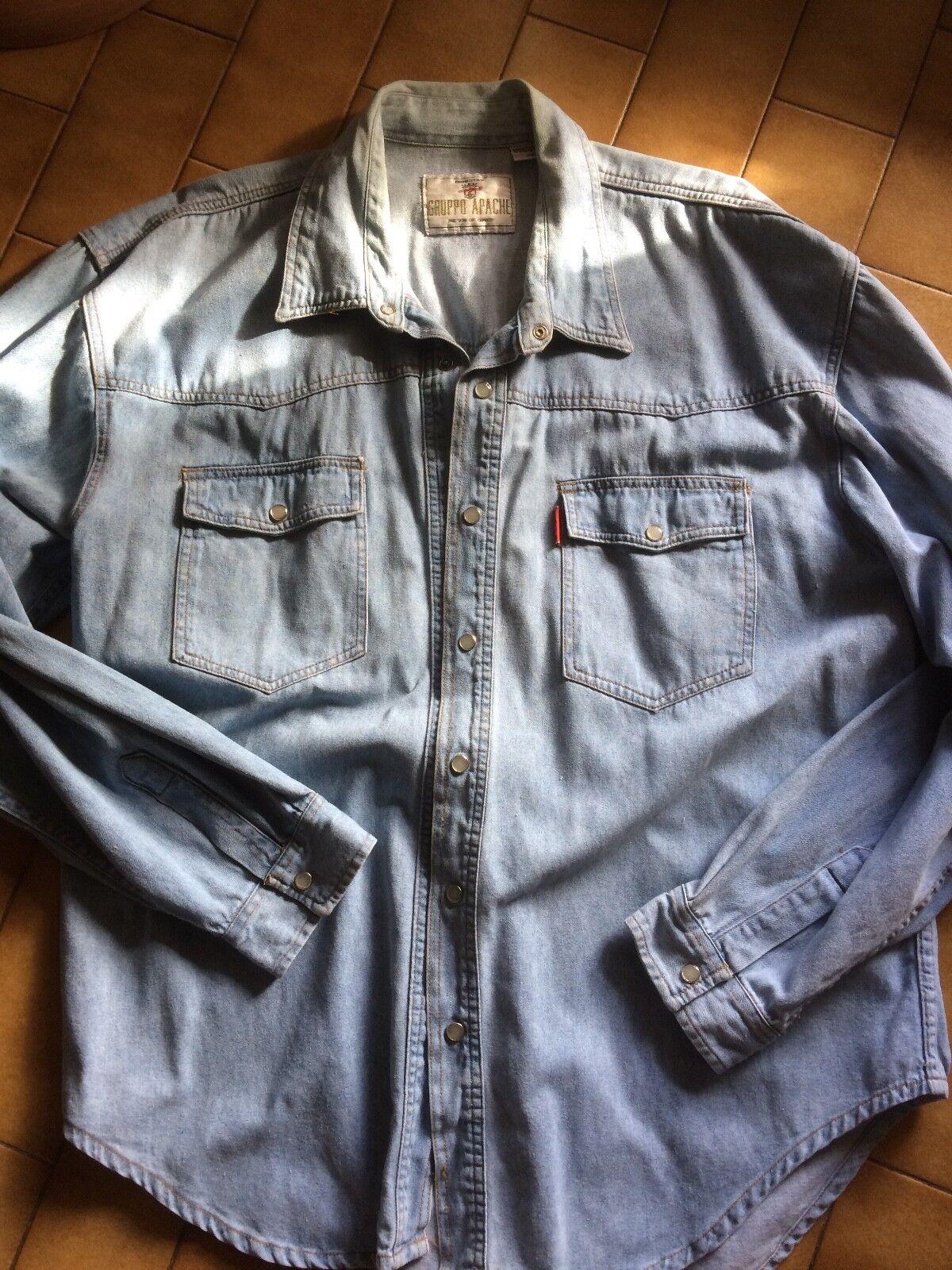 Vintage surchemise en jeans taille xl apache