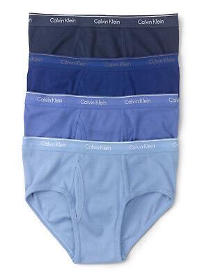 Calvin Klein Mens Cotton Classic Fit Underwear Briefs   4 Pack