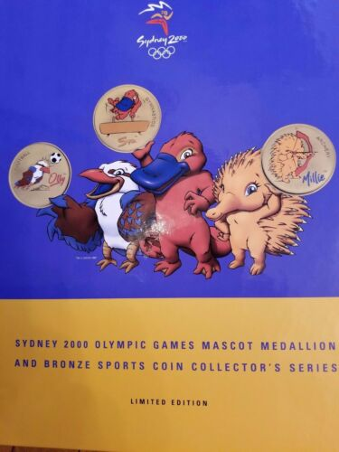 AUSTRALIAN 2000 SYDNEY OLYMPIC $5 COIN & MEDALLION COLLECTION