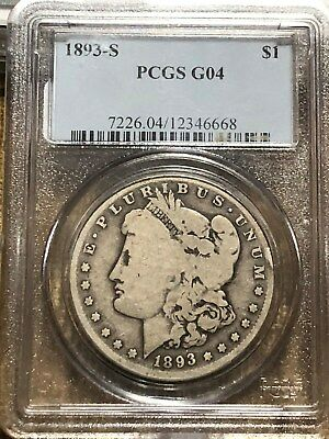"1893-S Morgan Dollar PCGS ""Certified"" G-4"