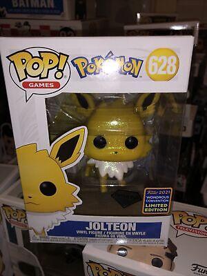 Jolteon (628) (Pokémon) 2021 Wondercon Exclusive Diamond Funko Pop