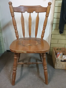 Country Kitchen Chair Solid Timber Antique Look