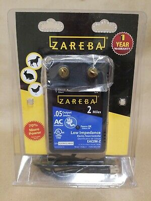 Zareba Eac2m-z Fuseless Low Impedance Ac Powered Electric Fence Energizer 0.5