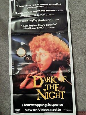 DARK OF THE NIGHT (VIDEO DEALER 33 X 18 POSTER!, 1980S) CULT THRILLER, RARE ITEM