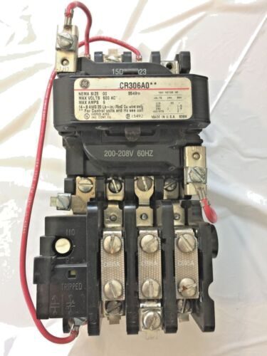 GE GENERAL ELECTRIC SIZE 00 Magnetic Mag Starter Motor Control Thermal Protected