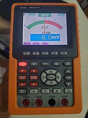 Owon Hds1021m-n Handheld Digital Storage Oscilloscope Fft Waveform Record Replay