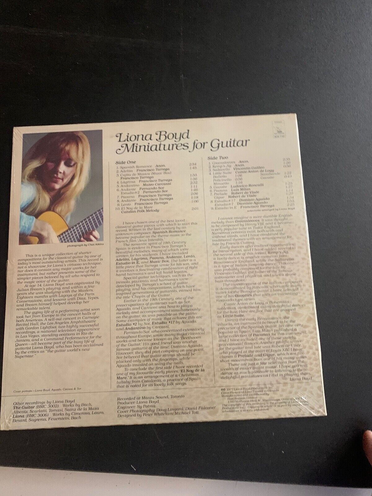 LP RECORD - NEW - LIONA BOYD - MINIATURES FOR GUITAR  - $9.99