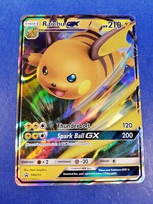Raichu GX SM213 Black star Promo ULTRA RARE Pokemon Card NEAR MINT