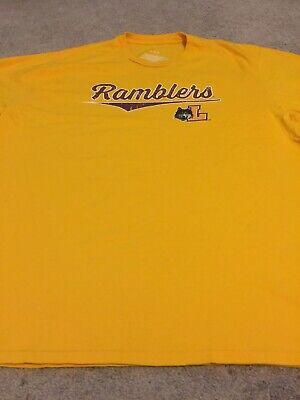 Loyola Chicago Ramblers College T-shirt Yellow Fanstics Sz XL