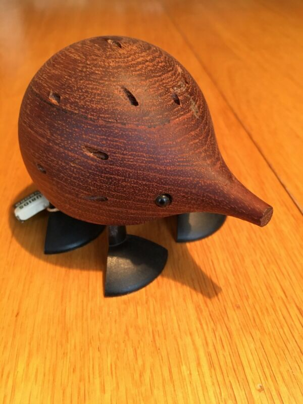 Laurids Lonborg Denmark Teak Hedgehog Cocktail Toothpick Holder/Tags