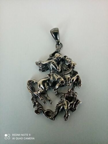 SILVER PENDANT FABERGE ST. GEORGE