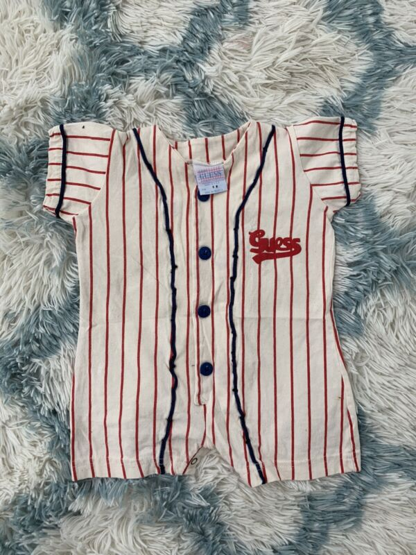 Vintage Guess USA Toddler Romper One Piece 6 Months Made In USA