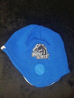 Boise State Broncos BSU Knit Beanie Old School Football Helmet Style