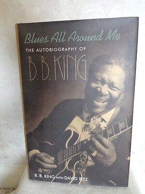 B.B. King's Autographed Blues All Around Me & Concert Ticket. (#2858)