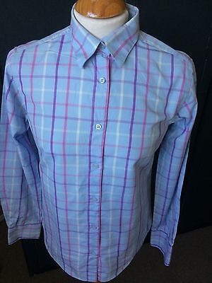 VINTAGE THOMAS PINK OF LONDON BLUE PINK CHECK SHIRT M