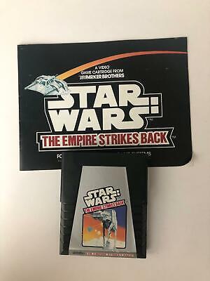 STAR WARS EMPIRE STRIKES BACK Sears & Atari 2600 Original Game Cartridge Manual