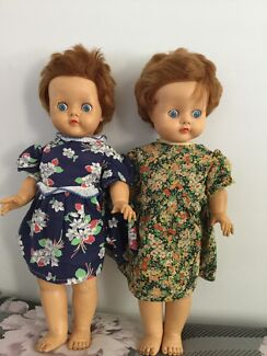 Wanted: Pedigree Twin Dolls 1961, Good Used Condition, Soft Vinyl, 20 in