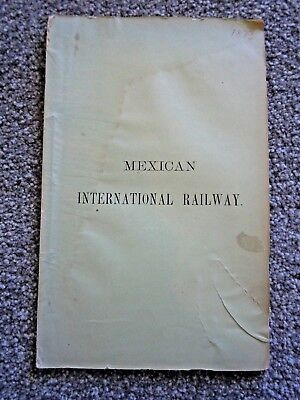 1873 Mexican International Railway : Contract with the Government of Mexico