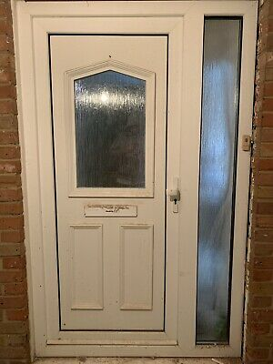 Used UPVC door with sidelight (1255mm total width)