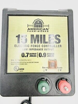 American Farmworks 15 Mile Ac Low Impedance Pulse Electric Fence Controller