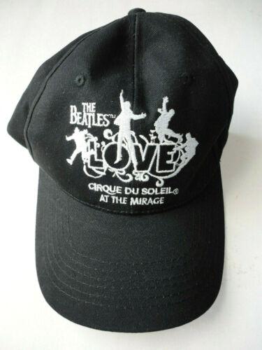 BEATLES CIRQUE DU SOLEIL LOVE BLACK ADJUSTABLE HAT CAP NEVER USED MIRAGE CASINO