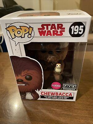 Funko Pop! Chewbacca With Porg Flocked FYE Exclusive #195