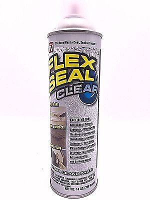 $95 Flex Seal Spray Cans Liquid Rubber Sealant Coating -  Stop Leak 14 oz CLEAR