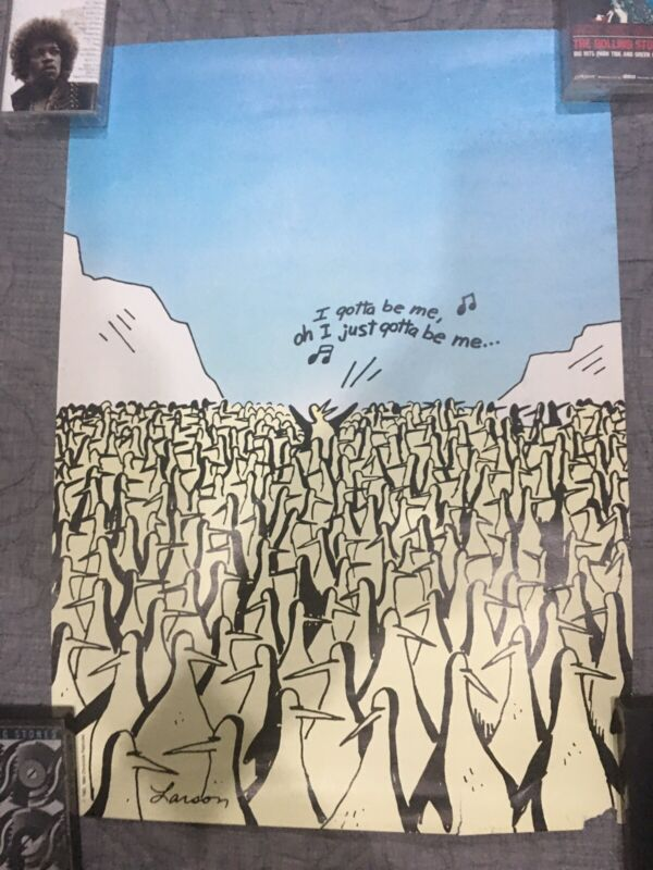 The Far Side by Gary Larson vintage 1982 14x20 wall poster Penguins