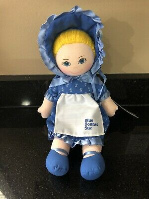 "1986 Dakin Blue Bonnet Sue 11"" Doll Nabisco Advertising Cloth Plush ~ VINTAGE"