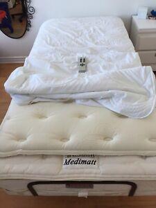Lit électrique ajustable avec massage
