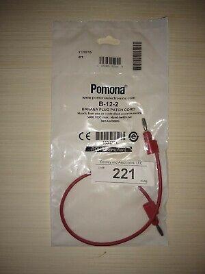 Pomona B-12-2 Banana Plug To Banana Plug
