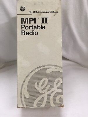 Ge Walkie-talkie Handheld Portable Two-way Radio Mpi-ii 2 Ericsson Vhf New